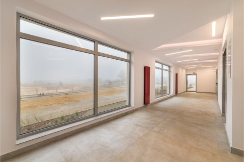 hol w gotowym budynku przy Dionizosa 7 Comfort City Rubin
