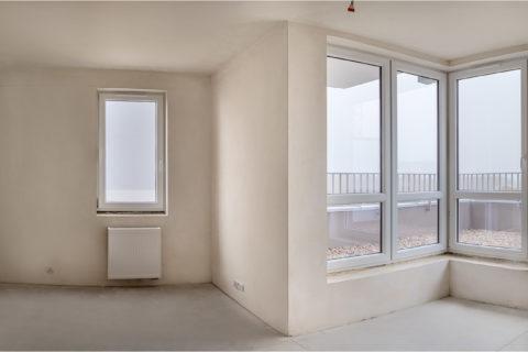 okna w Comfort City Rubin stan deweloperski mieszkania