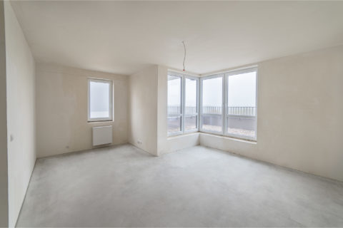 przykładowy salon w gotowym mieszkaniu w Comfort City Rubin