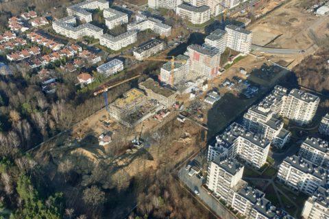 Comfort City Białołęka z lotu ptaka listopad 2019