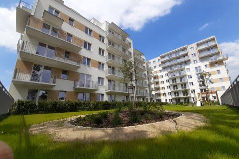 Comfort City Bursztyn widok od strony patio czerwiec 2020