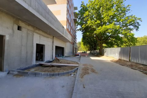 Comfort City droga dojazdowa, wjazd do garaży  czerwiec 2020