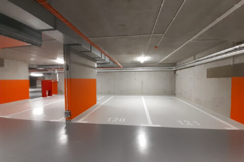 garaż podziemny Comfort City Bursztyn lipiec 2020
