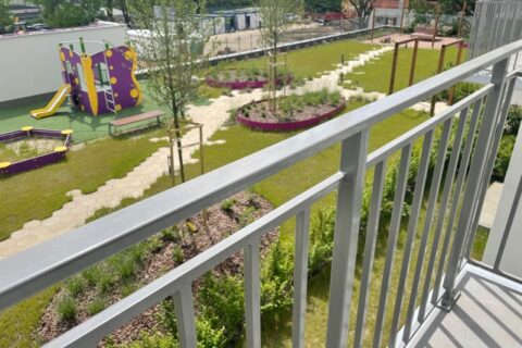 Comfort City Ametyst widok na patio , maj 2021