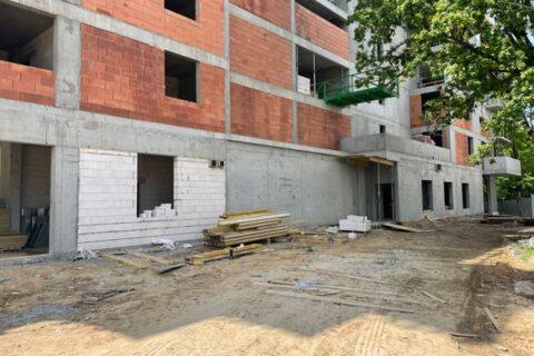Comfort City Perła zaawansowanie prac budowlanych maj 2021