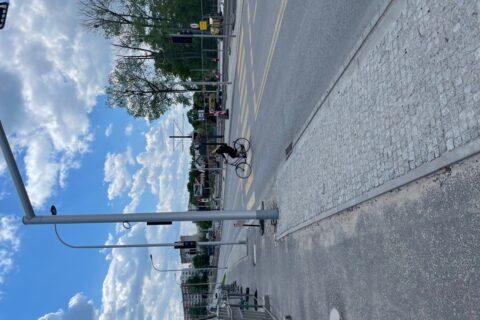przystanek tramwajowy ul. Światowida maj 2021