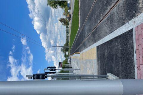 przystanek tramwajowy na ulicy Światowida maj 2021